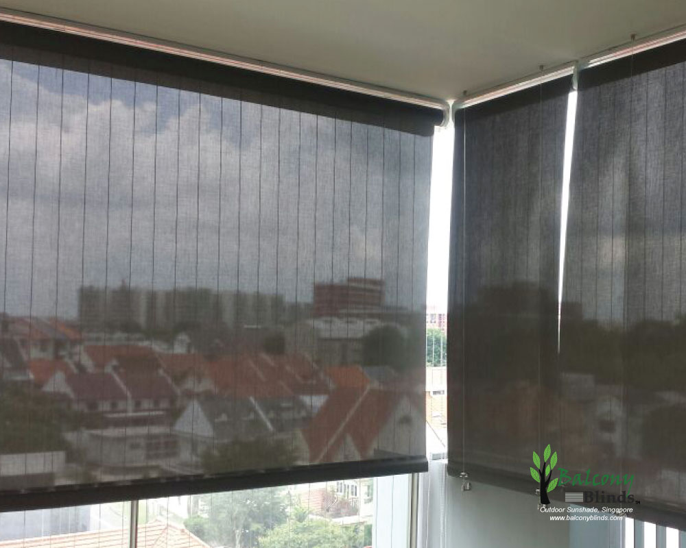 Outdoor roller blinds singapore balconyblinds for Exterior window shade