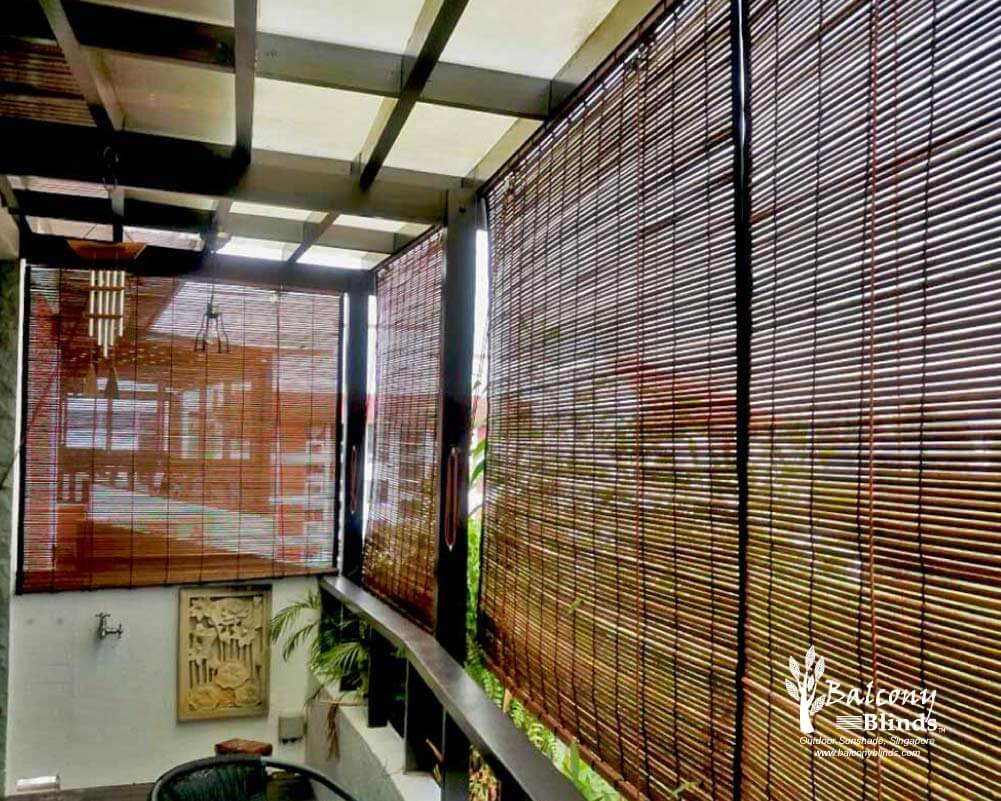 Outdoor Bamboo Chick Blinds Singapore