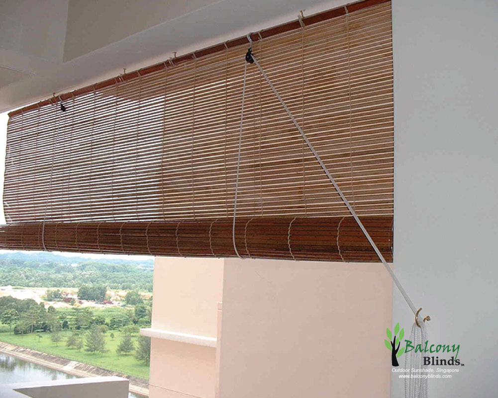 Exterior bamboo shades for patio sunshade outdoor blinds for Exterior window shade