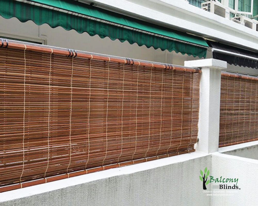 Outdoor bamboo blinds singapore balconyblinds for Uses of balcony