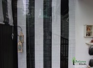Black and White Bamboo Chick Blinds, Outdoor Blinds Singapore