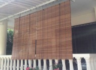 Outdoor Bamboo Chick Blinds Without PVC Backing for Semi Detached House Balcony, Outdoor Blinds Singapore
