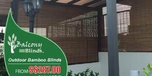 Outdoor Bamboo Blinds Promotion, Singapore