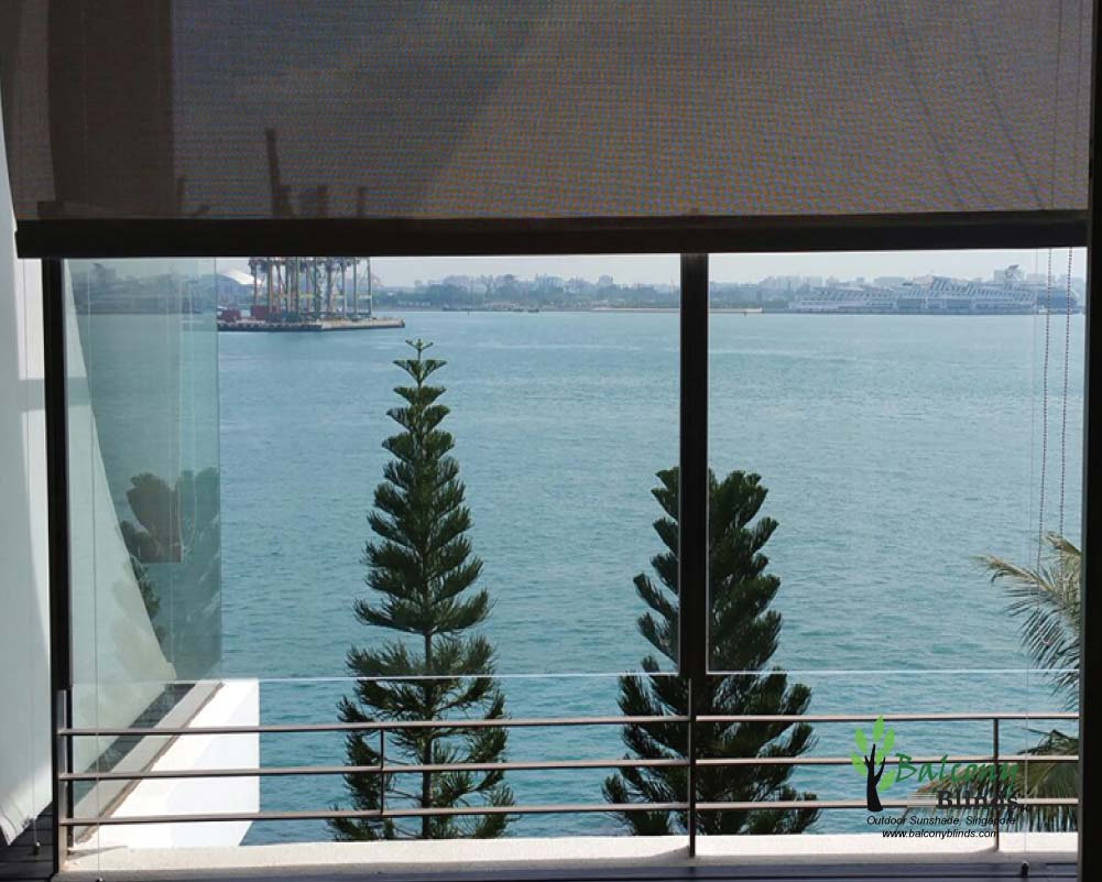 Outdoor weather protection balconyblinds for Balcony shades