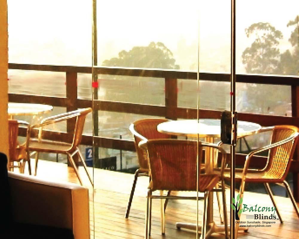 Balcony shades sun protection balconyblinds for Balcony shades