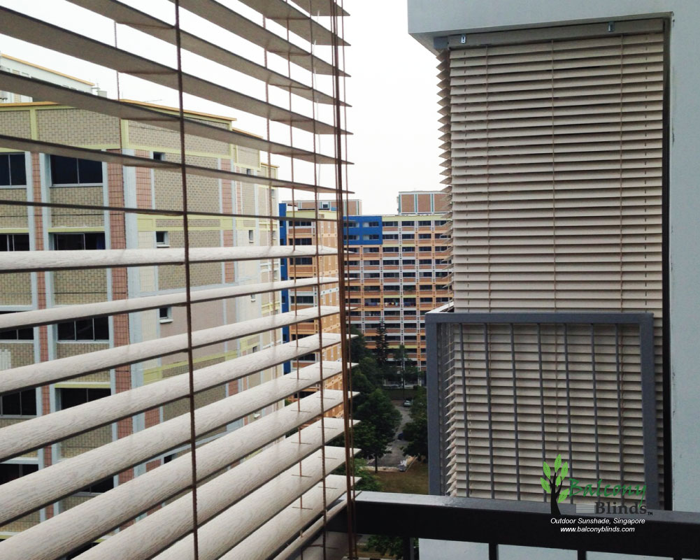 Outdoor Pvc Wooden Blinds Singapore Balconyblinds