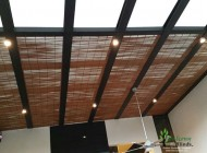 Outdoor Bamboo Chick Blinds for Landed House Skylight, Outdoor Blinds Singapore