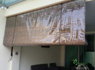 Outdoor Bamboo Chick Blinds with PVC Backing for Balcony, Outdoor Blinds Singapore
