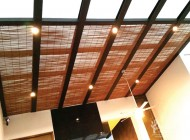 Outdoor Bamboo Blinds for Landed House Skylight, Outdoor Blinds Singapore