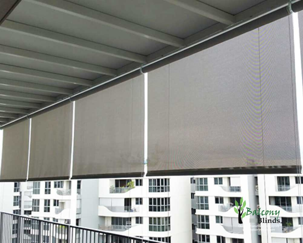 Outdoor roller blinds gallery balconyblinds for Balcony shades