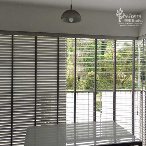 Outdoor PVC Venetian Blinds