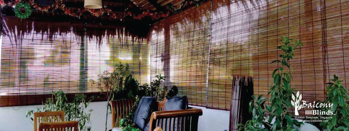 Outdoor Natural Bamboo BalconyBlinds