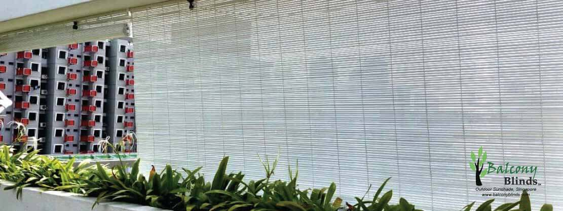 Single Colour Bamboo BalconyBlinds