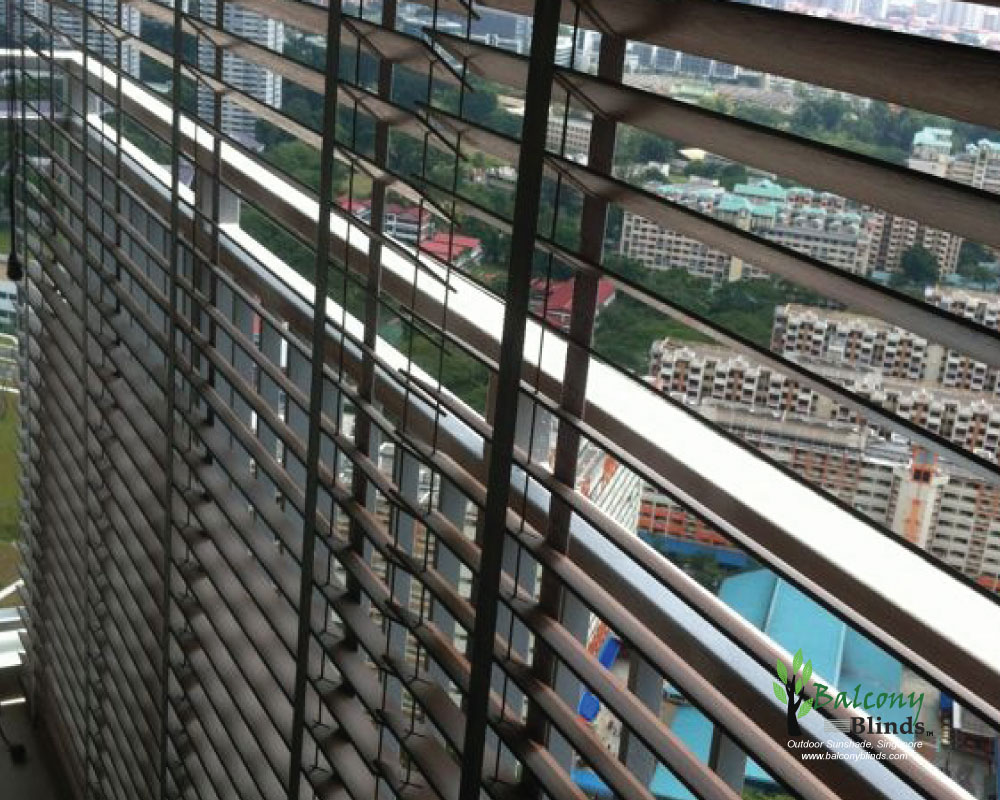 Outdoor PVC Wooden Blinds - BalconyBlinds