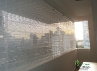 Single Colour Outdoor Bamboo Chick Blinds, Outdoor Blinds Singapore