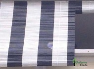 Black and White Outdoor Bamboo Chick Blinds, Outdoor Blinds Singapore