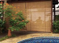 Outdoor Bamboo Blinds for Semi Detached House Balcony, Outdoor Blinds Singapore