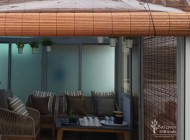 Outdoor Bamboo Chick Blinds with PVC Backing for Semi Detached House Balcony, Outdoor Blinds Singapore