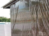 Outdoor Bamboo Chick Blinds with PVC Backing for Semi Detached House Balcony at Thomson Garden Estate, Outdoor Blinds Singapore