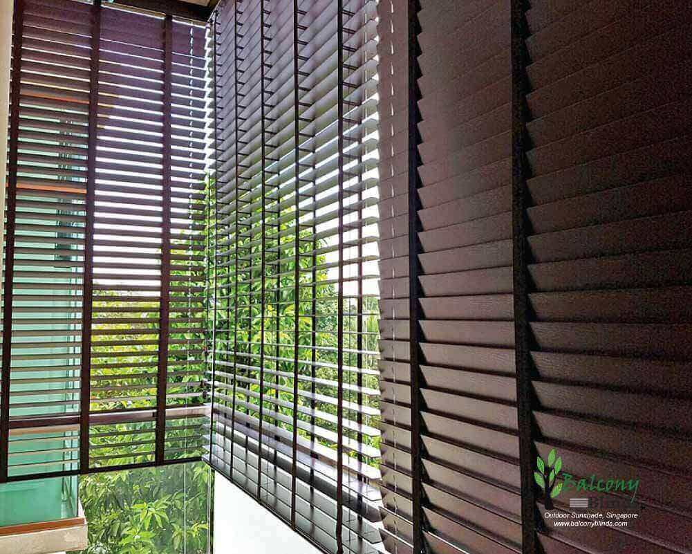 Outdoor 50mm Pvc Venetian Blinds For Condo Balcony Singapore