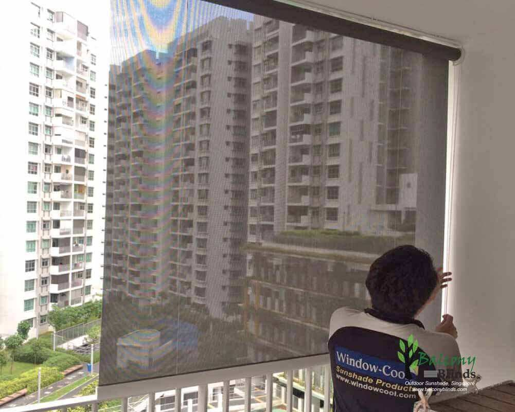 Roller Shades Blinds For Balcony Condo