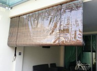 Outdoor Bamboo Blinds with PVC Backing for Landed House Balcony, Outdoor Blinds Singapore