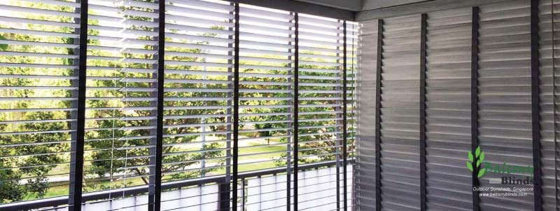 Outdoor Wooden BalconyBlinds