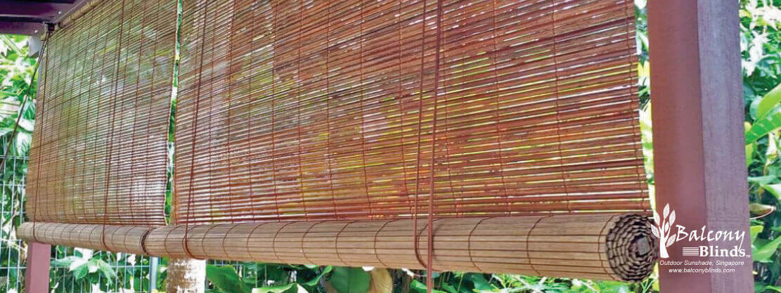 Outdoor Natural Bamboo BalconyBlinds