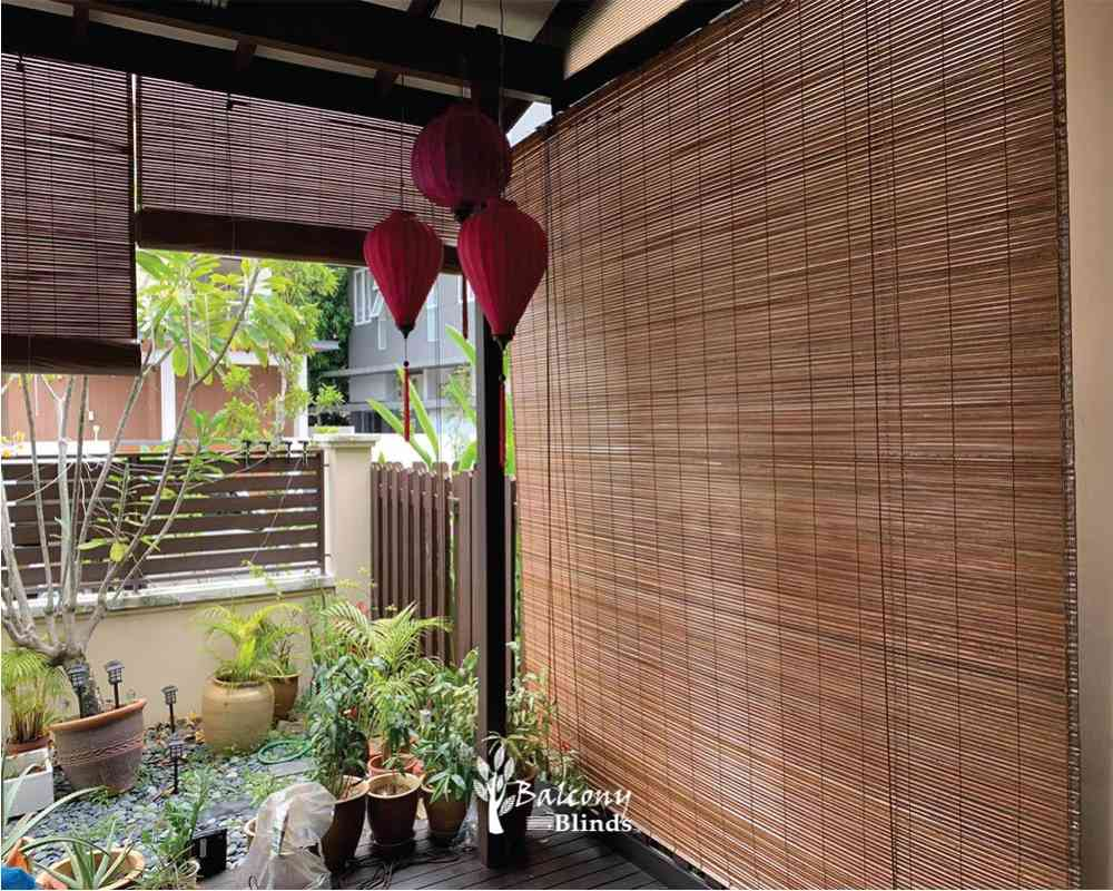Outdoor Natural Bamboo Chick Blinds