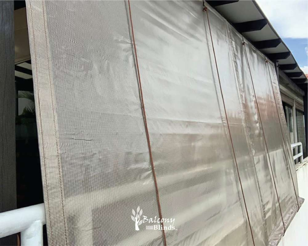 Canvass Material Privacy - Transparent Clear PVC Outdoor Blind