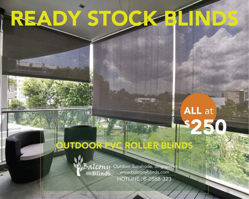 Ready Made Blinds - Outdoor PVC Roller Blinds
