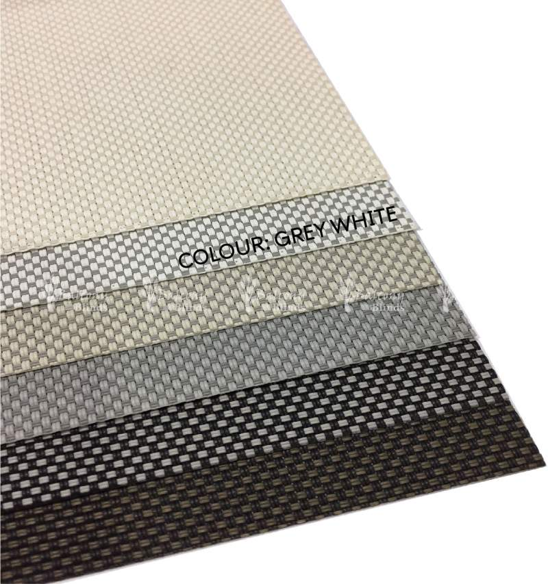 Blind Fabric Color Grey White