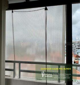 Transparent Clear Outdoor Blinds
