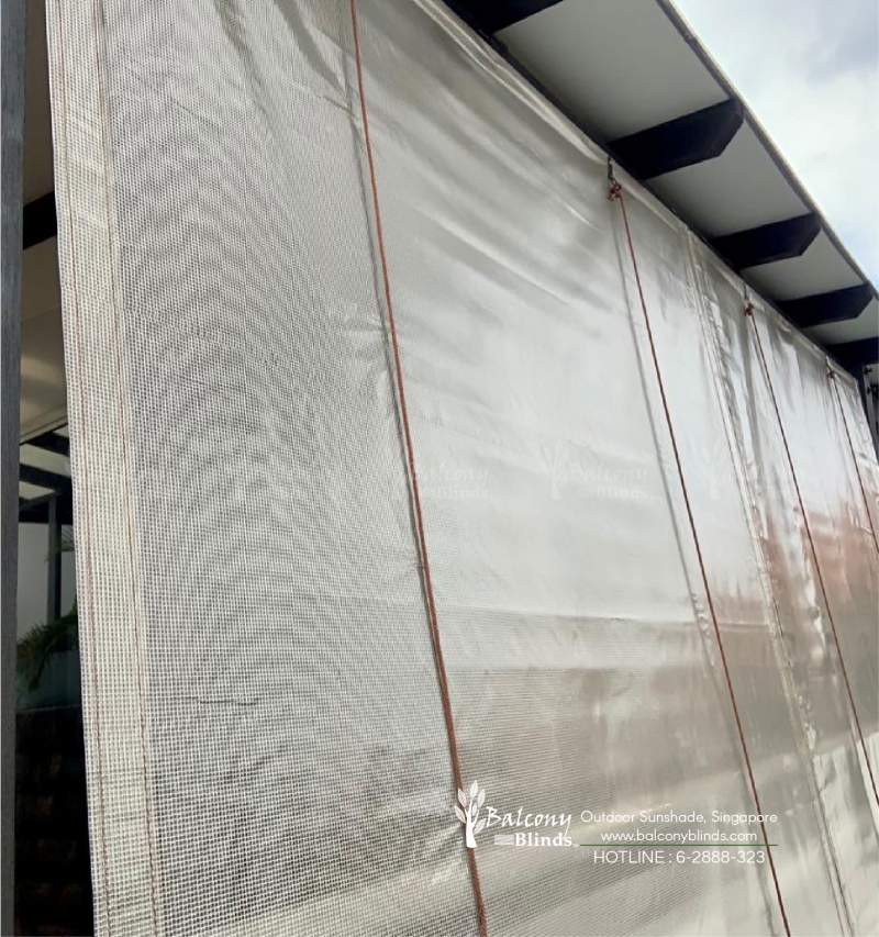 Silver Canvas Blinds