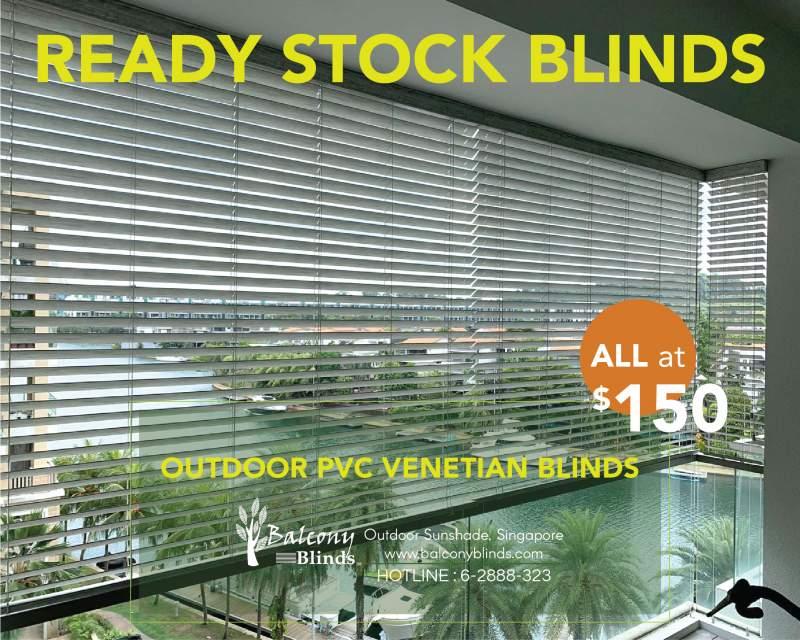 Ready Made Blinds - Outdoor 50mm PVC Venetian Blinds